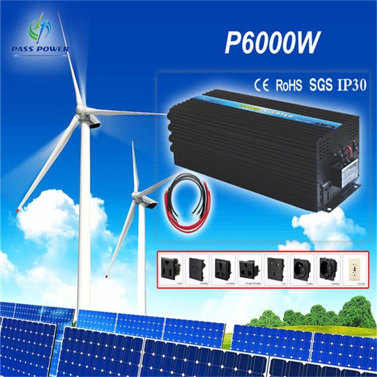 New model , 6000W DC 12V AC  220V/230V/240V Pure Sine Wave Power Inverter