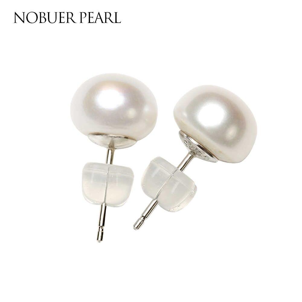 Nobuer жемчужные серьги S925 стерлингов серебряные серьги с жемчугом для  Для женщин и девочек ювелирные изделия cf1927ba677