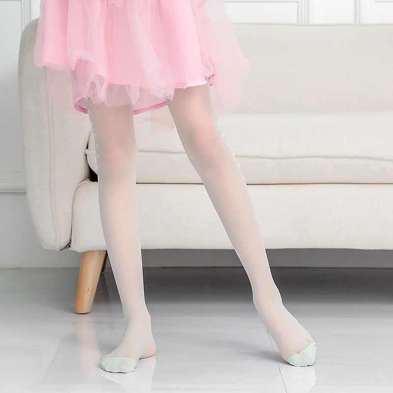 เด็กเด็กถุงน่องสาวถุงน่องกับโบว์ Tights สำหรับสาวเด็กบัลเล่ต์เต้นรำถุงน่องฤดูร้อนบางสาวเสื้อผ้า