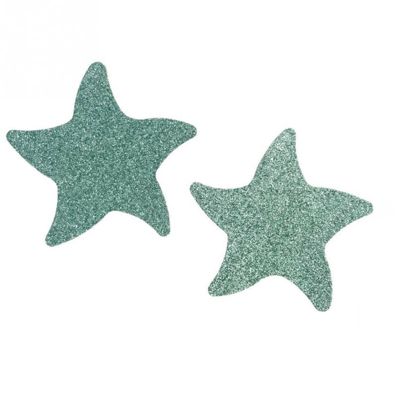 10 Pairs Disposable Safe Star Shape Satin Cloth Sexy Anti Bumping Breathable Nipple Cover Sticker