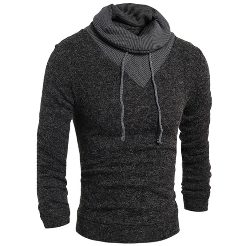 Sweater Pullover Men 2018 Male Brand Casual Slim Sweaters Men Soild Color Hedging Turtleneck Men'S Sweater XXL