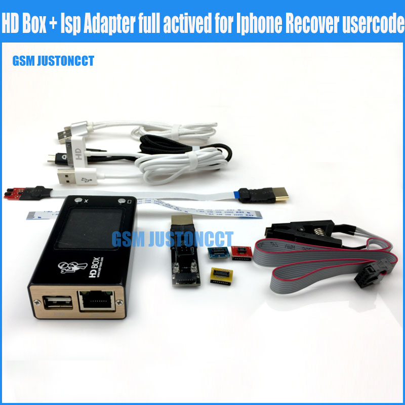 Ip BoxV2 Ip Box 3HD Box With Isp Adapter Full Actived For Iphone Recover Usercode Free Shipping By DHL