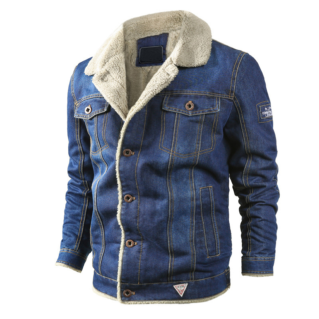 MAGCOMSEN Mens Jackets Winter Warm Demin Jacket Thicken Vintage Jeans Coat for Men Outwear Clothing Plus Size 6XL AG-MG-01 3