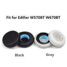 Soft Foam Ear Pads Cushions for Edifier W570BT W670BT Headphones high quality 10.31 все цены