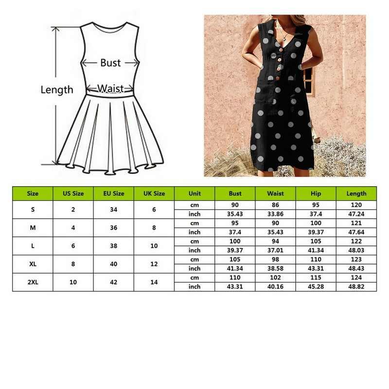 SFIT 5XL Ladies Turn-down V-neck Boho Dress Women Summer Dot Print Button Pocket Dress Casual Beach Dresses Plus Size