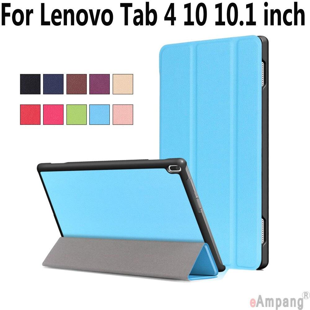 Чехол Smart Case для Lenovo Tab 4 10 10.1 дюймов искусственная кожа складной Фолио магнитной сна бодрствования чехол для Lenovo tab 4 10 10.1 дюймов ...
