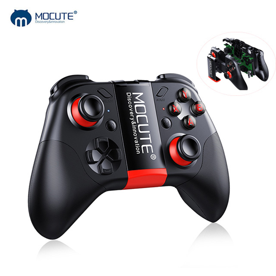 MOCUTE 054 Bluetooth Gamepad Android PC controlador remoto inalámbrico Botón de cristal Joystick Game Pad para Smartphone VR caja de TV