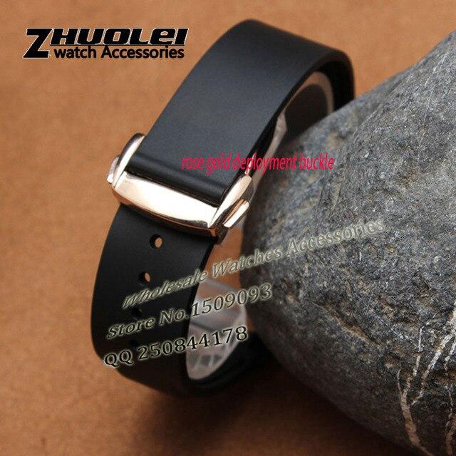 88b91a9ec1ec85 Zakrzywiony koniec specjalny interfejs gumowy pasek silikonowy pasek do  zegarków bransoletka pomarańczowy czarny niebieski 20mm 22mm