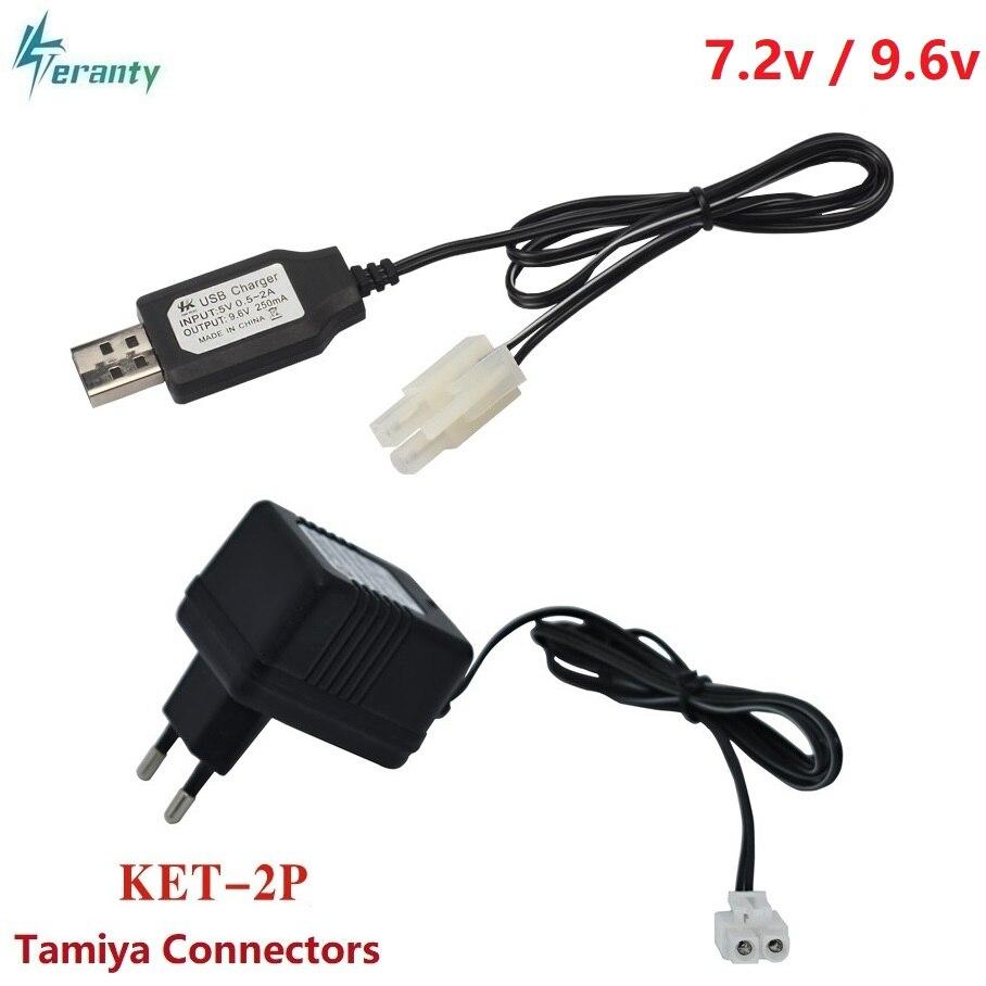 7.2v 9.6v Charger For NiCd NiMH Battery Input 100v-240v Output 7.2v 250ma With Tamiya Plug Kep-2p Plug 9.6v Charger For RC Toys