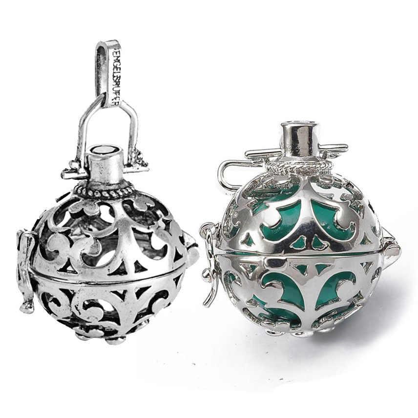 1pc creux Cage filigrane boule boîte diffuseur collier médaillon pendentifs pour bricolage parfum huile essentielle résultats de bijoux