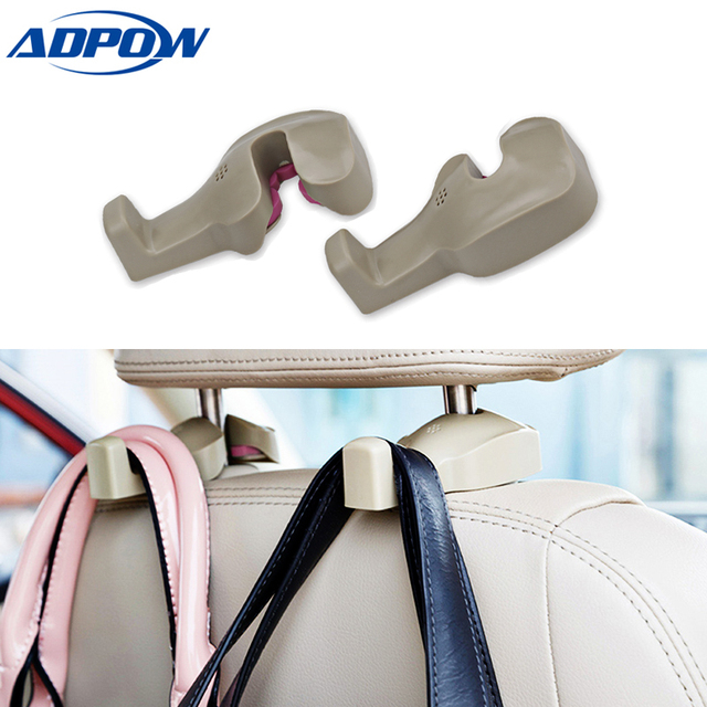 Car Back Seat Headrest Holder Auto Hanger Hooks Clip for Purse Bag Cloth Grocery Automobile Interior Accessories