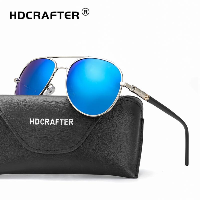 208dec932e HDCRAFTER 2018 pilot sunglasses men polarized uv400 high quality driving  sunglasses polarized man retro vintage sun