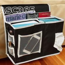 6 Карманный прикроватный матрас для хранения ткани Оксфорд бытовой 6 Карманный прикроватный контейнер для хранения Матрас книга дистанционного Черный