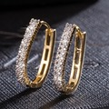 Fashion Shiny Zircon Hoop Earrings for Women  Gold Plated Brincos huggie earring zirconia argola boucle d'oreille jewelry
