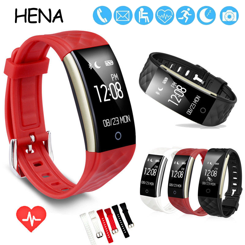 HENA Smart Watches Waterproof IP67 S2 Bluetooth 4.0 Smart Watch Fitness Tracker Heartrate Monitor Wristband for IOS Android
