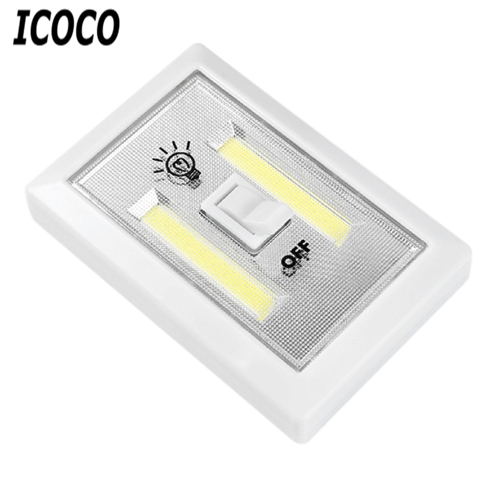 Square COB Wall Light Aisle Cabinet Lamp Emergency Light with Touch Switch Bedroom Super Bright Lighting