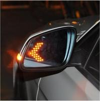 LED heating Rear side turn signal blue curvature anti defogging dazzling rearview mirror for BMW 1 2 3 5 Series F10 F18 F30 F35