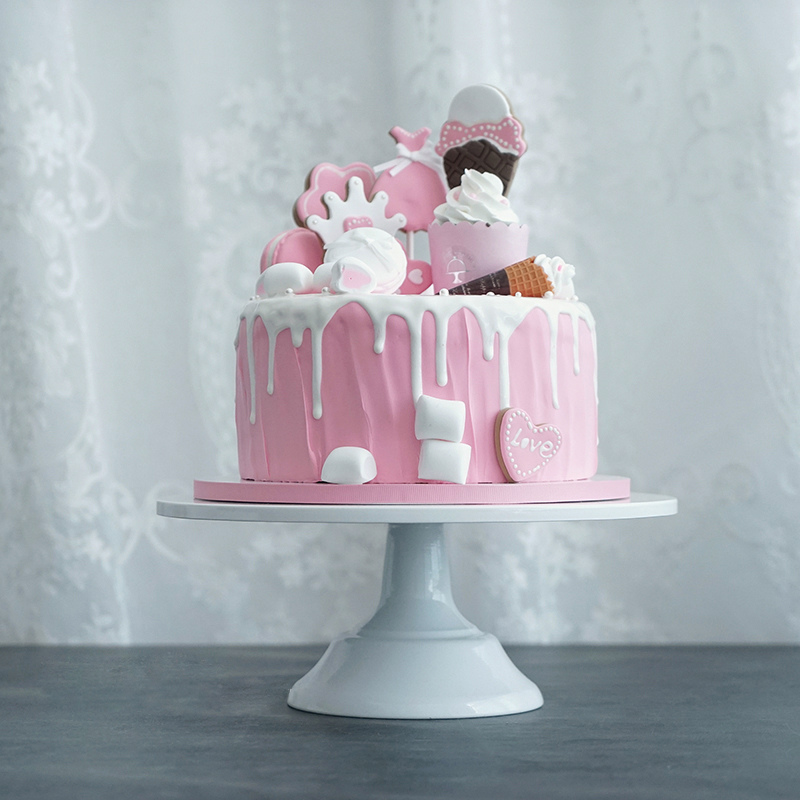 Top 10 Wedding Cake Suppliers In Melbourne: 10 Inches White Cake Topper Wedding Birthday Party Cake