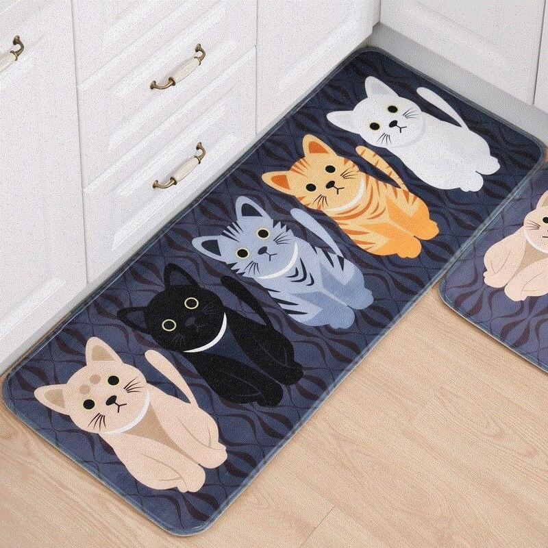 Alfombras antideslizantes de Tatami de gato 3d para la cocina alfombras de bienvenida pisos de puerta colchoneta en el felpudo del pasillo para la sala de estar
