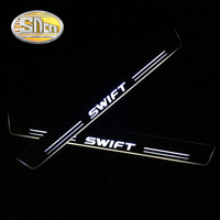 SNCN 4PCS Acrylic Moving LED Welcome Pedal Car Scuff Plate Pedal Door Sill Pathway Light For Suzuki Swift 2015 2016 2017 2018