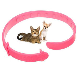 New Adjustable Novelty Pet Collar Neck Ring Leave Away From Flea Tick Mite Louse Remedy Animal Accessories Cat Flea Neck Ring(China)