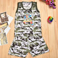 boxer shorts boys camouflage long t-shirt kleren children meisjes kleding sets 2017 clothing dzieci kids suits