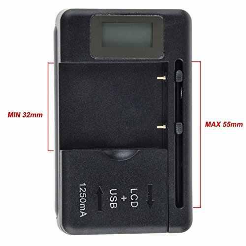 Универсальный ЖК-дисплей Экран USB AC телефона Батарея литий-ионный аккумулятор для дома Настенная док-станция для путешествий Зарядное устройство для смартфона Mp3 Mp4 цифровой плеер Камера