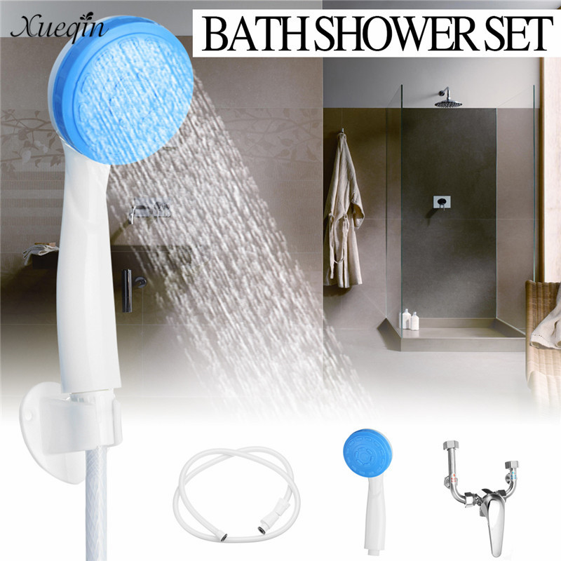 Xueqin Bath Shower Set ABS Shower Head With U-Shape Water Valve With Complete Fitting Accessories Bathroom Suite