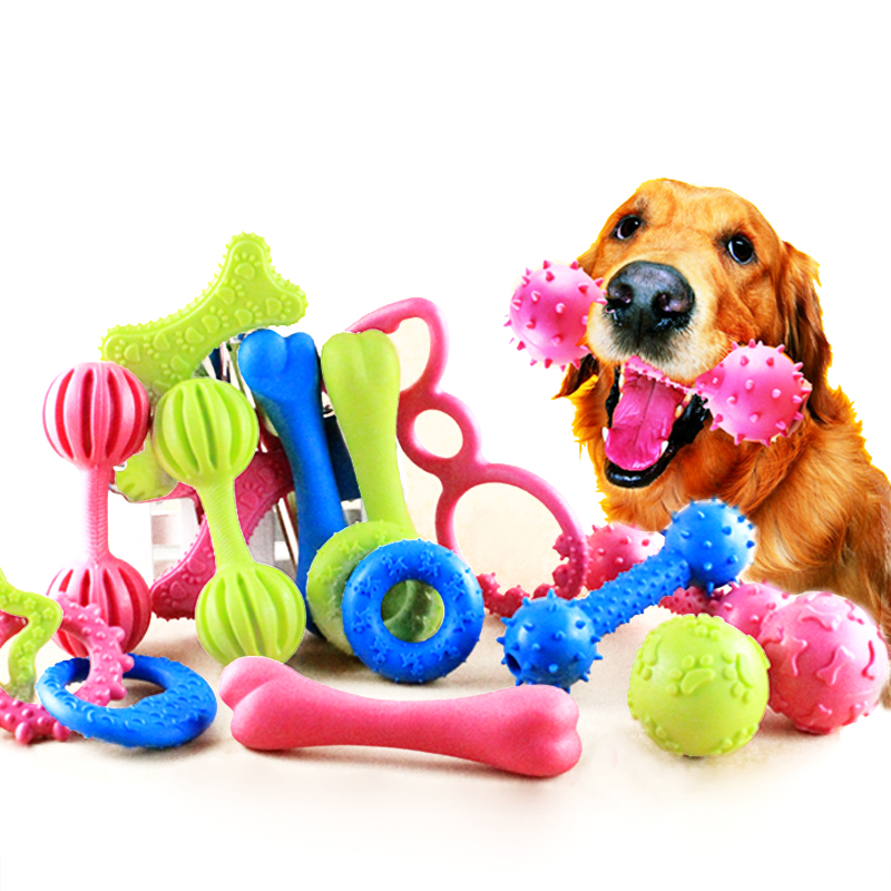 Toys For Dogs : Style pet dog toy chew squeaky rubber toys for cat