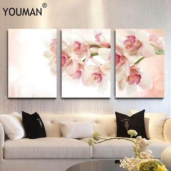 Frameless Poster Wallpaper Small Fresh Pink Romantic Flower Modern 3D Canvas Painting Art Print Wall Picture Children