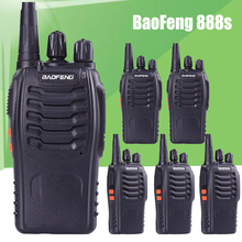6pcs BaoFeng BF-888S UHF Rechargeable Walkie Talkies CB two Way Radio Communicator Portable Handheld Two Way Radio Transceiver