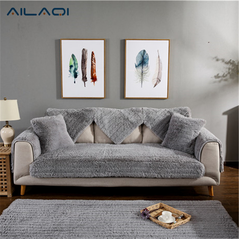 AILAQI Pulsh Sofa Covers Fabric Knit Eco Friendly Stretch