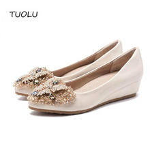 New 2017 Spring Autumn women Crystal Ballet Flats Fashion Ladies shoes  Wedding Soft women Flats shoes e86e350259dd