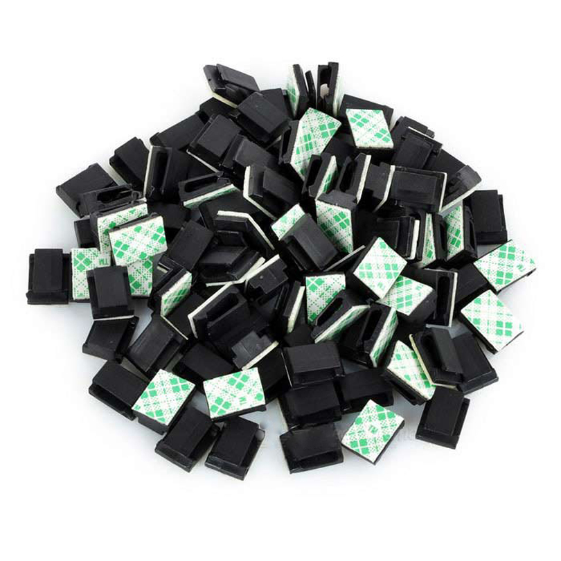 Genuine Adhesive Cable Clips Clamps Car Wire Tie Mount Drop Wire Holder for Car/Office/Home (20PCS)