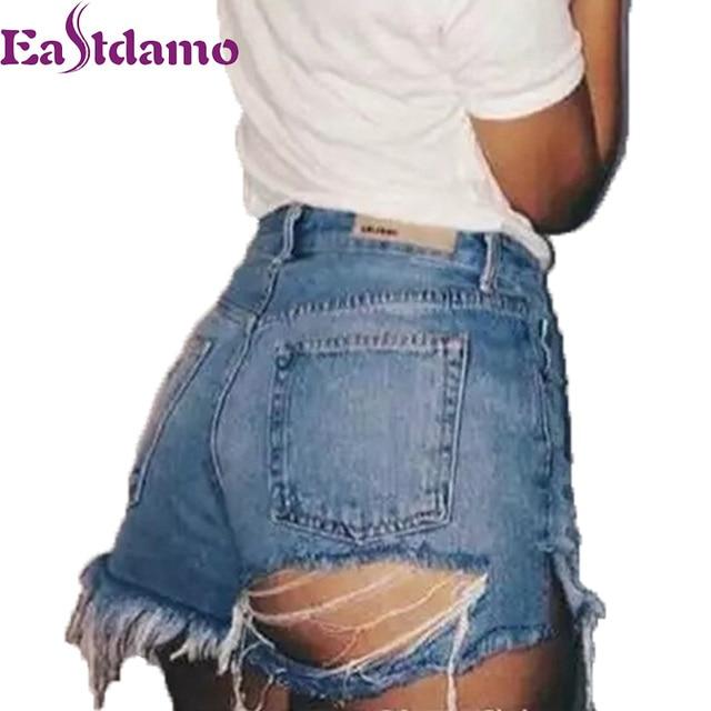 Aliexpress.com : Buy Eastdamo Sexy Ripped jeans Shorts Women 2017 ...