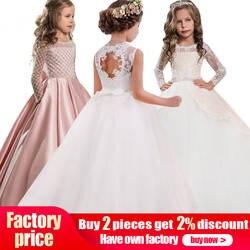 Розничная продажа, высокое качество, вышивка, цветочный вырез, Элегантное свадебное платье для девочек с бантом, ремень со стразами