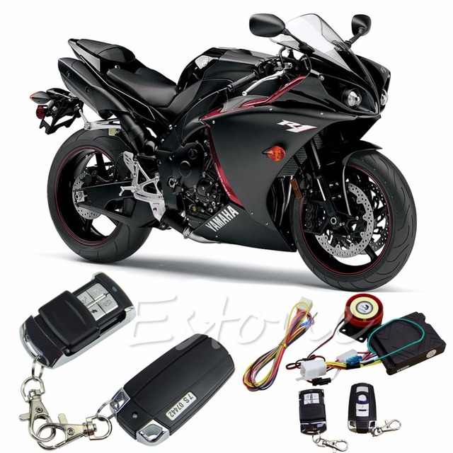 Cool Motorcycle Scooter Anti-theft Alarm Remote Control Engine Start Security System