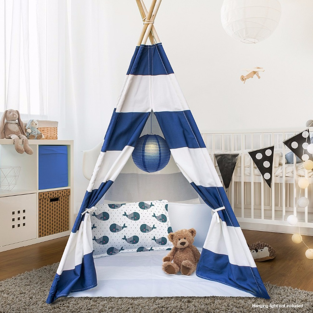 Navy Blue Tipi Tent for Kinder Indian Tipi Childrens Tipi Tent Wigwam Tent tipi tent for kids childrens tipi wigwam tent page 8