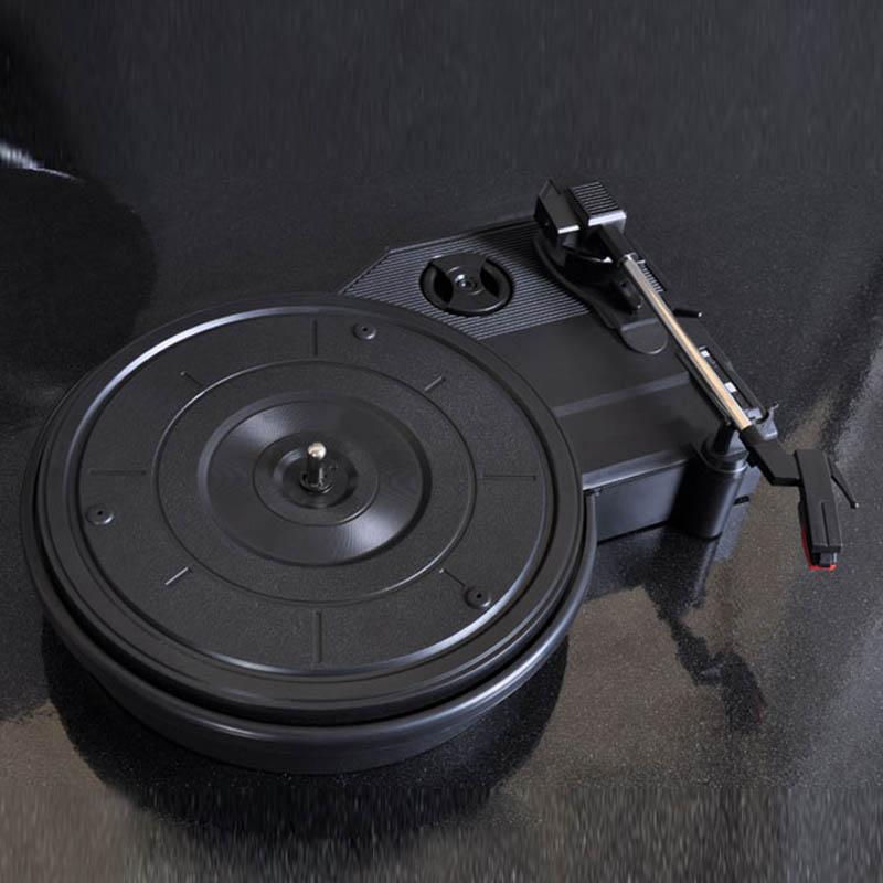 [China] HX115 gramophone record player vinyl mini portable stereo LP turntables PC computer recorder turntable record