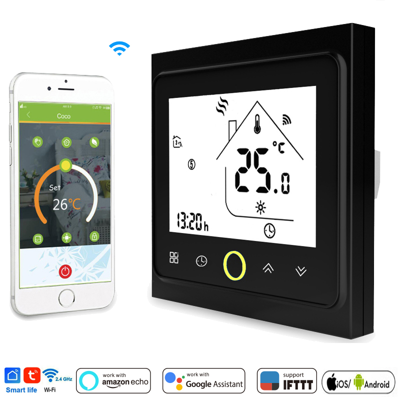 WiFi Smart Thermostat Temperature Controller For Water/Electric Floor Heating Water/Gas Boiler Works With Alexa Google IFTTT