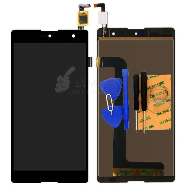 "5.5 ""negro lcd + tp para blu grand 5.5 hd g030u pantalla lcd + asamblea del digitizador de la pantalla táctil del teléfono reemplazar parte envío libre + herramientas"