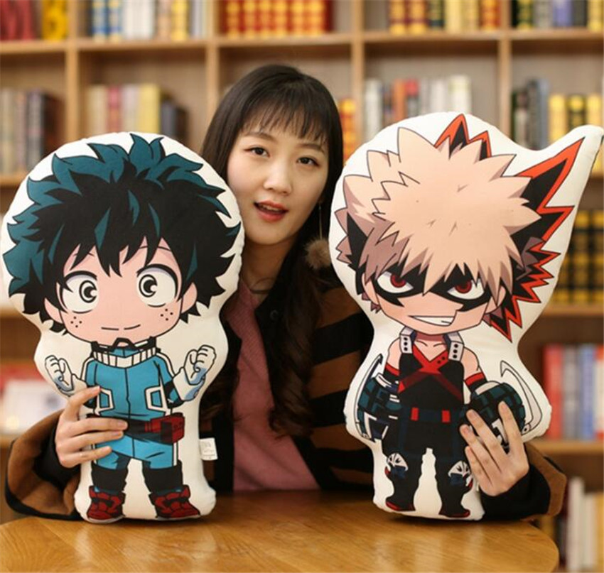 48cm Anime Exhibition Cute Toys My Hero Academia Dolls Plush Soft Pillow Toy Birthday Gifts Stuffed Brinquedos Collection New