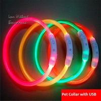 Safety LED Nylon Pet Dog Collar LED Light Flashing In Dark Pet Collar Pet Products Adjustable