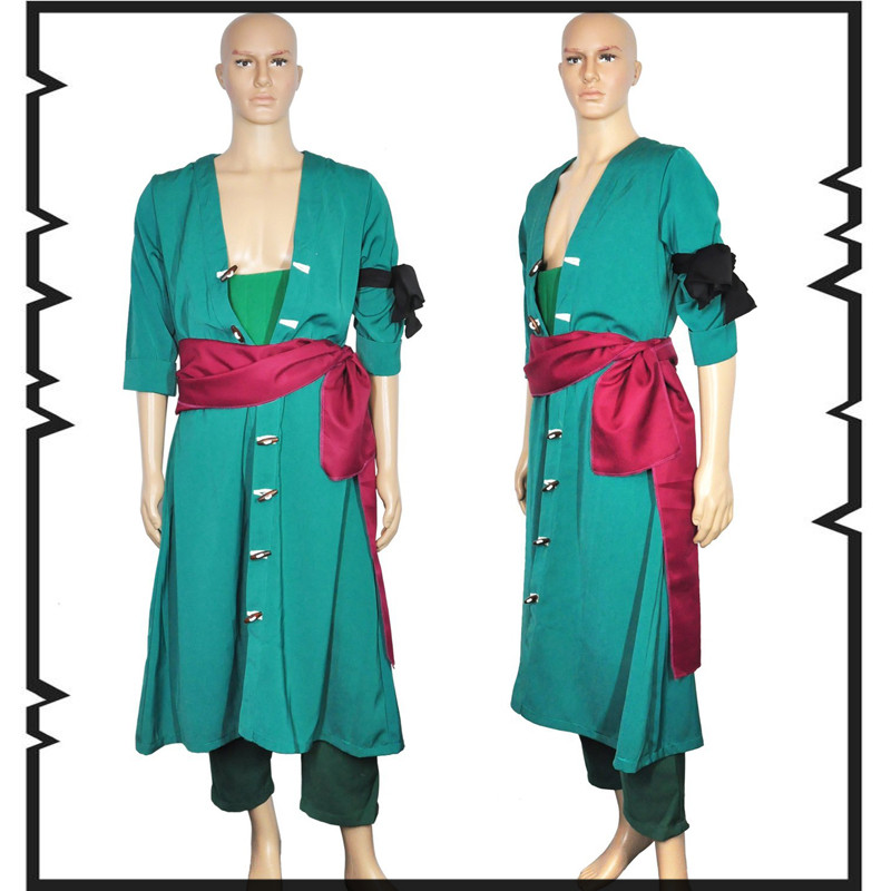Japanese Anime One Piece Roronoa Zoro Two Years Later cosplay costume Full Set All  euro size high quality
