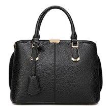 Bolsa Feminina 2016แฟชั่นผู้หญิงสบายๆกระเป๋าหนังPUสีดำมัลติฟังก์ชั่Topจับกระเป๋าC Rossbody Messengerได้กระเป๋าสะพาย