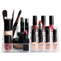 Acrylic Makeup Organizer Storage Box 20 Lattice Clear Jewelry Lipstick Plastic Box Make UP Organizer Boxes