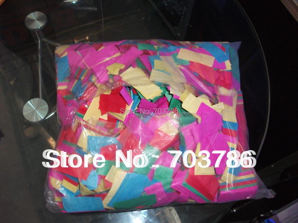 Wedding Confetti Paper for Rainbow Effect Machine Confetti Machine and Confetti Cannon 1KG/bag Suit ALL Paper Machine 5kg lot confetti paper sliver paper for confetti cannon machine for wedding party decor