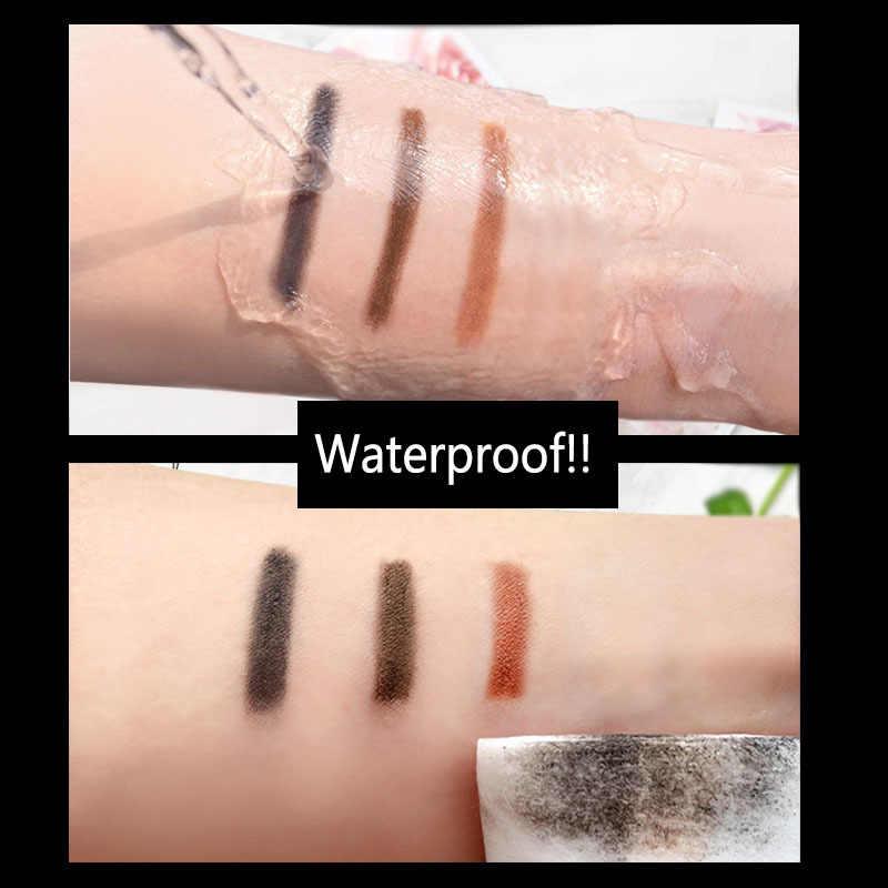 MINFEI 3 kolory ołówek do brwi wodoodporny podwójne zakończył się 2 w 1 kosmetyków z pędzelkiem trwały brwi tatuaż makijaż TSLM1