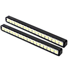 1 Pair Car Daytime Running Lights Auto Daylight 18 LEDs DRL Super Bright Car daytime LED light  Car Styling Waterproof