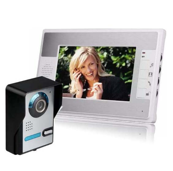 MOUNTAINONE 7 Wired Night Visual Video Door Phone Doorbell Intercom System Home Security TFT LCD Monitor Outdoor Camera 1V1 yobang security 7 tft lcd wired video door phone visual home video intercom outdoor door bell doorbell with camera monitor